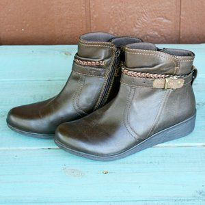 Earth Origins Jane Zula Leather Ankle Boots Size 7